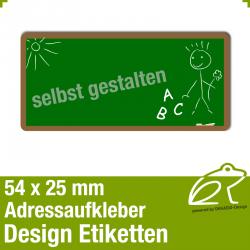 Design Adressaufkleber - 54 x 25 mm - *019