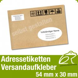 Versandaufkleber Etiketten - oval 54 x 30 mm