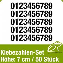 Klebezahlen-Set H.7cm 50Stück