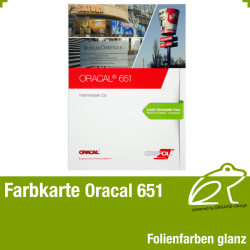 Farbkarte glanz - Oracal 651 Intermediate Cal