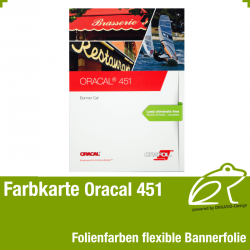 Farbkarte flexible - Oracal 451 Banner Cal