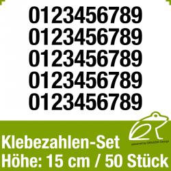 Klebezahlen-Set H.15cm 50Stück