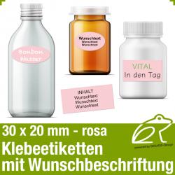 Klebeetiketten rosa - 30 x 20 mm