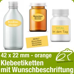 Klebeetiketten orange - 42 x 22 mm