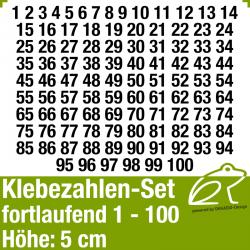 Klebezahlen-Set fortlaufend 1-100 H.5cm