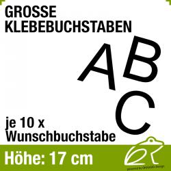 17 cm Klebebuchstaben - je 10 Stück