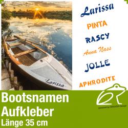 Bootsnamen Aufkleber Länge 35 cm