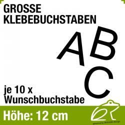 12 cm Klebebuchstaben - je 10 Stück