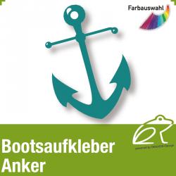 Bootsaufkleber Dekor Anker