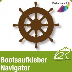 Bootsaufkleber Dekor Navigator