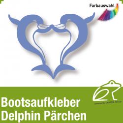 Bootsaufkleber Dekor Delphin Pärchen