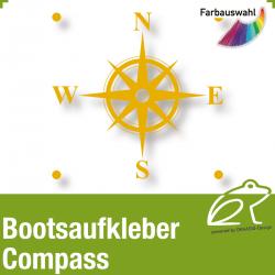 Bootsaufkleber Dekor Compass