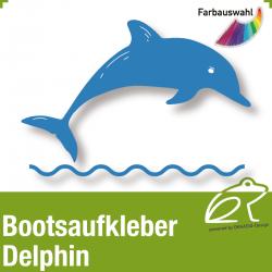 Bootsaufkleber Dekor Delphin