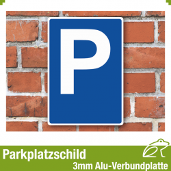 Parkplatzschild