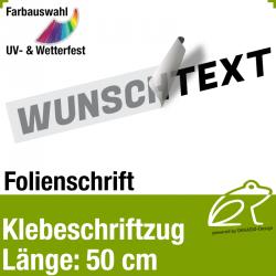 Klebefolienschriftzug Länge 50 cm / 1-zeilig